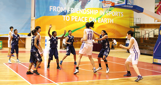 Chinese team wasn't a piece of cake for the Indian basketball players. Source: Press Photo