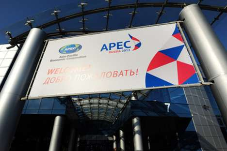 APEC's summit will take place in Vladivostok in September. Source: Ria Novosti