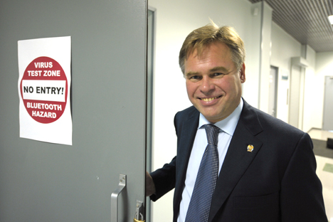 Russia accounted for only 5 percent of cybercrime in 2011. Pictured: Eugene Kaspersky who founded Russian multi-national computer security company, Kaspersky Lab. Source: RIA Novost