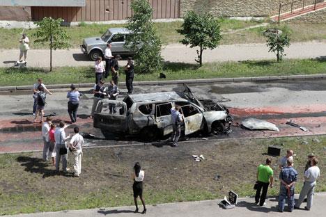 The Tatarstan mufti's service car was blown up in Kazan on June 19, causing fatalities. Source: ITAR-TASS