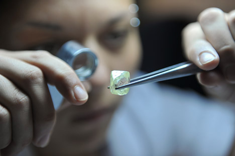 Alrosa is interested in cooperation with India. Source: Alexander Utkin / RIA Novosti