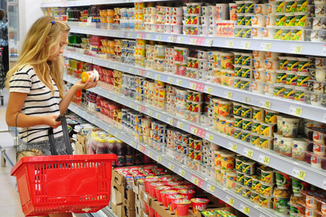 Russian consumers spend over a third of their income on food. Source: PhotoXPress