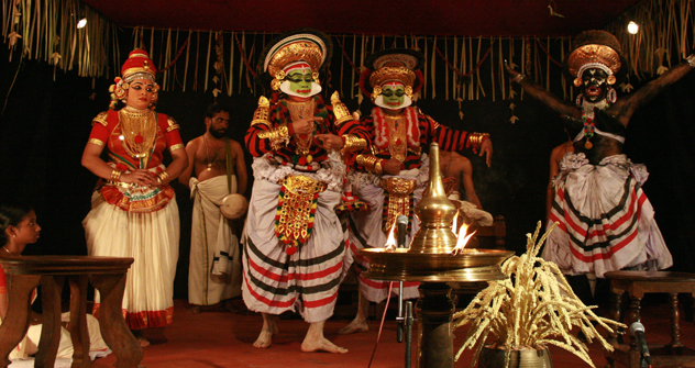 Kutiyattam is traditionally performed in Hindu Temples in Kerala. Source: Press Photo
