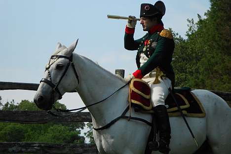 Mark Schneider appeared for the first time as Napoleon at Borodino reenactment in 2007. Source: Press Photo