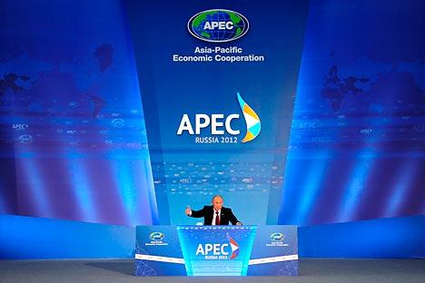 President Vladimir Putin said he was happy with the outcome of the APEC summit. Source: RIA Novosti
