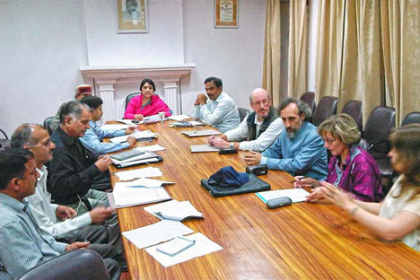 Members of the IMRT met to discuss the issues facing the Roerich estate