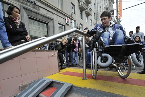 Officially, the streets of Moscow have been adapted for the disabled. But a lot needs to be done. Source: RIA Novosti