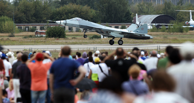 Russian fifth-generation fighter jet - Sukhoi T-50. Source: ITAR-TASS