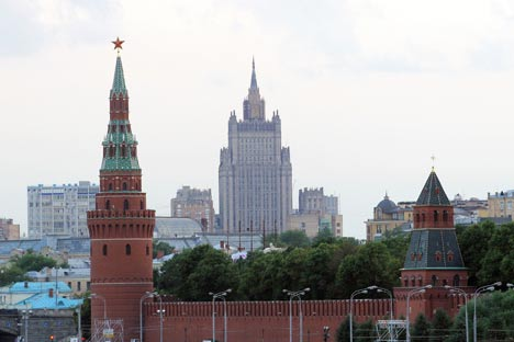 Russian Foreign Ministry (pictured): There is any links between the illegal export of microchips from the U. S. to Russia and the American presidential campaign. Source: PhotoXPress