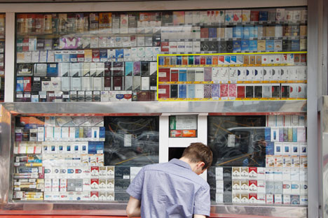 The bill, which seeks to ban smoking in public places, prohibit cigarette advertising and cut sales, is expected to reach the Duma by November 1. Source: RIA Novosti