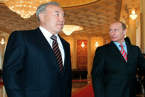 President Vladimir Putin and his kazakh counterpart Nursultan Nazarbayev. Source: ITAR-TASS