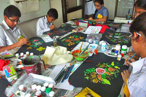 Delhi Public School Dwarka hosts a cultural festival with art workshops. Source: Russian Embassy in New Delhi