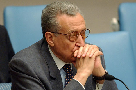 UN-Arab League envoy Lakhdar Brahimi arrived in Moscow on Monday for his one-day trip. Source: EPA