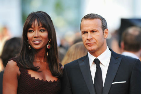 Supermodel Naomi Campbell with her boyfriend Vladislav Doronin. Source: Getty Images