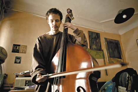 When he is not writing caustic pieces for the magazine, he plays the double-bass. Source: Kirill Lagutko