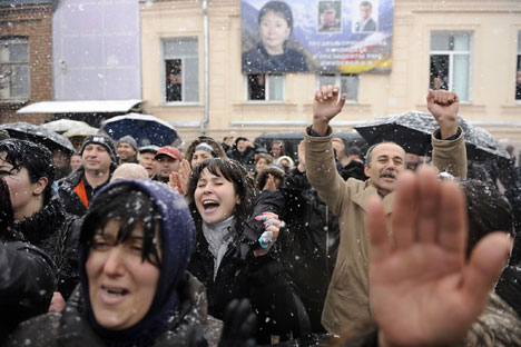 This month marks nine years since Georgia's Rose Revolution and eight years since Ukraine's Orange Revolution. Source: Mikhail Mordasov