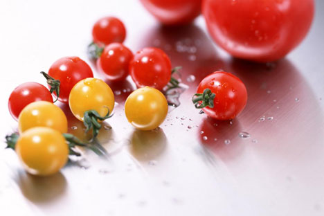 Russian Kitchen: Marinated cherry tomatoes. Source: Press Photo