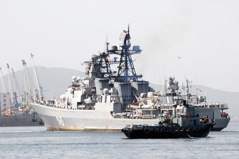 Los barcos rusos atracaron en Ceuta el día 5 de enero. Fuente: Reuters.