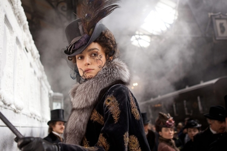 "Keira Knightley starring in Joe Wright's ""Anna Karenina."" Source: Kinopoisk.ru"
