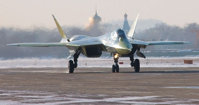 The Russian fifth generation fighter, code-named T-50, should be deployed in the Russian Air Force after 2017. Source: Nicolaos Chatzis/flickr