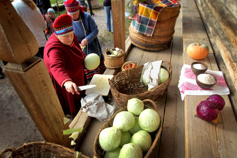 Russian Kitchen: Pickled Cabbage. Source: RIA Novosti