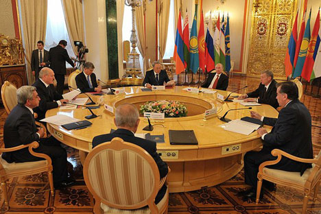 Meeting of heads of states parties to the Collective Security Treaty. Source: Kremlin.ru