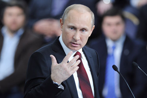 Russian President Vladimir Putin. Source: Reuters / Vostock Photo