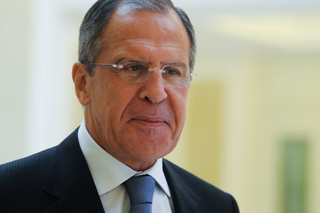 Russian Foreign Minister Sergei Lavrov. Source: ITAR-TASS