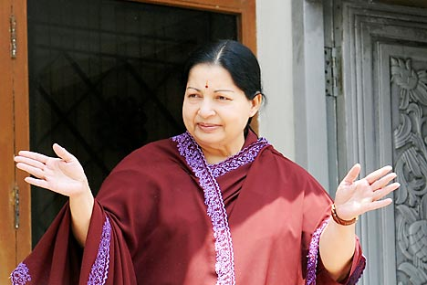 The Tamil Nadu chief minister Jayalalithaa. Source: AFP
