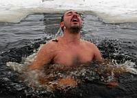 People waiting their turn to bathe on the Orthodox Epiphany day. Source: ITAR-TASS