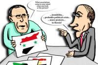 Projecting on Syria. Drawing by Niyaz Karim