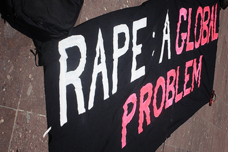 According to official reports, a woman in India is raped every 20 minutes. Source: Press Photo