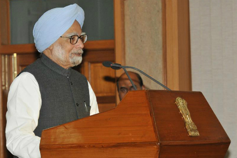 Prime Minister Manmohan Singh underlined that India needs to thinks of ways of taking the relationship with Pakistan forward by addressing the constituency which believes in democracy. Source: Photo Division, Government of India
