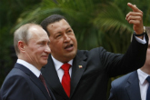 Russian President Vladimir Putin and his Venezuelan counterpart Hugo Chavez. Source: AP
