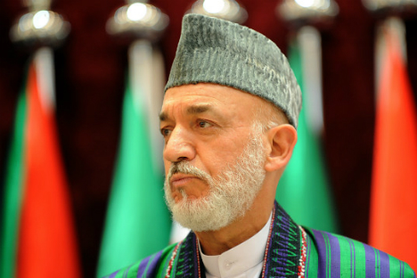 Karzai has now ordered that the Afghan forces will never approach the US for air support in their military operations. Source: Getty images