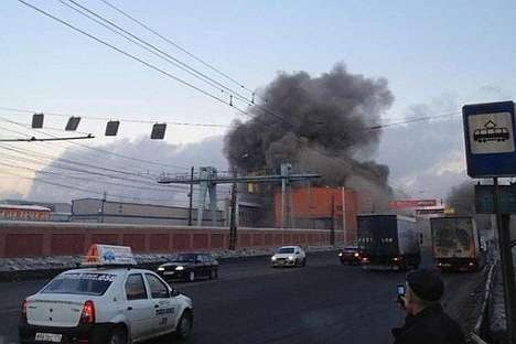 The meteorite fell in the Chelyabinsk region on Friday, Feb. 15, 2013. Source: vk.com