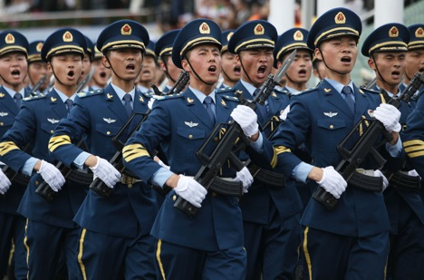 The Chinese People's Liberation Army. Source: AP