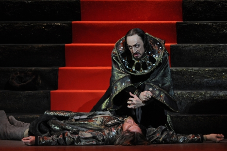Pavel Dmitrichenko as Tsar Ivan the Terrible in a scene from the new production of Sergei Prokofiev's ballet Ivan the Terrible, staged at Bolshoi Theater. The actor said he organized the Bolshoi acid attack. Source: RIA Novosti / Vladimir Fedorenko