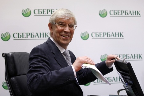 Central Bank chairman Sergei Ignatiev: aggravation of the Eurozone crisis and the poor investment climate at home drive capital outflows from Russia. Source: Getty Images / Fotobank