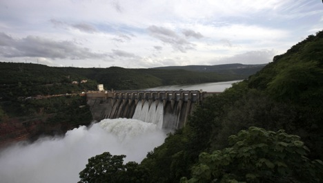 Linking the Krishna and Godavari basins through a dam will help India's drought situation. Source: AP