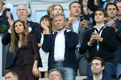 Roman Abramovich and his son Arkady (right) at the Champions League final match between Chelsea and Bayern on May 19, 2012. Source: Imago/Legion Media