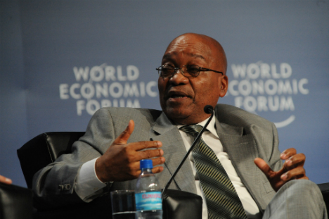 Zuma explicou que banco do Brics foi motivado pela insatisfação dos membros com FMI e Banco Mundial Foto: Press Photo/World Economic Forum