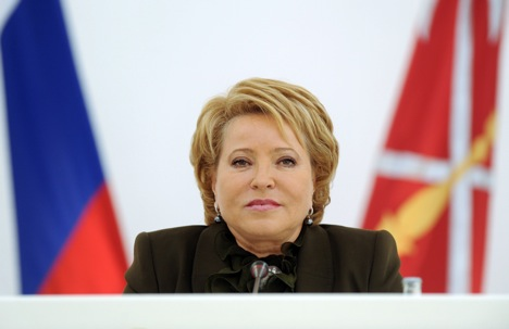 Senate speaker Valentina Matviyenko. Source: ITAR-TASS