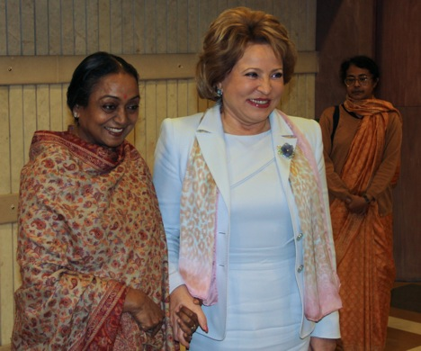 Matviyenko said India would remain a reliable and true friend of Russia, noting that the bilateral relations had stood the test of time. Source: Alexandr Nevara/RIA Novosti