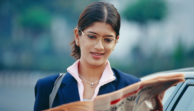 Indians are more enthusiastic readers of daily newspapers than Russians. Source: Alamy / Legion Media