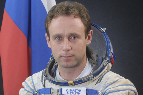 "Sergei Zaletin: ""Every second in space is a matter of life and death to us."" Source: ESA"