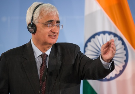 Indian External Affairs Minister Salman Khurshid. Source: AP
