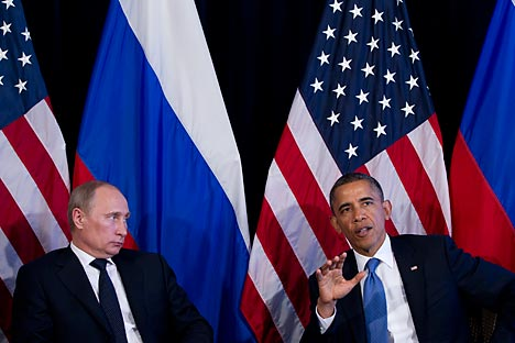 From Putin's point of view, Obama is a weakling who presides over the US withdrawal from global politics. Source: AP