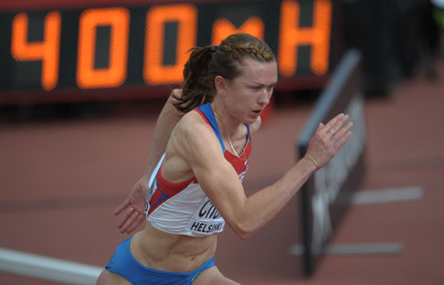 The 26-year-old runner Elena Churakova was disqualified from competition for two years because of proven case of doping. Source: Grigory Sysoev / Ria Novosti