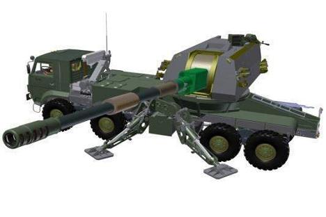 Koalitsiya-SV 152-mm twin-barrel howitzer 3d model. Source: Denis Mokrushin / livejournal.com.